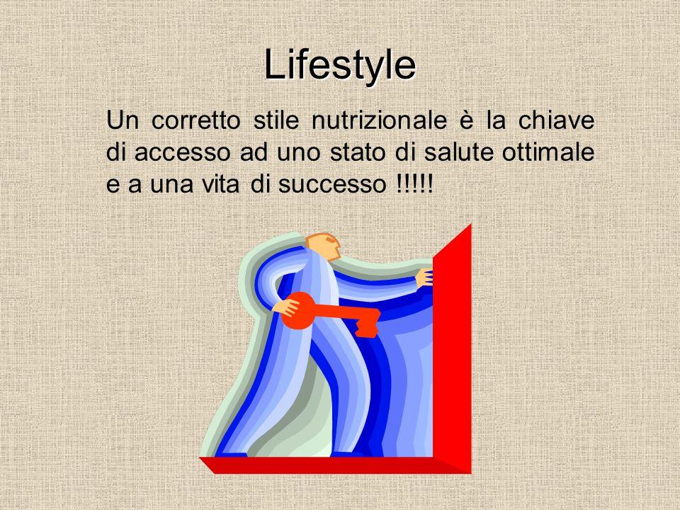 Lifestyle Un corretto stile nutrizionale è la chiave di accesso ad uno stato di salute ottimale e a una vita di successo !!!!!