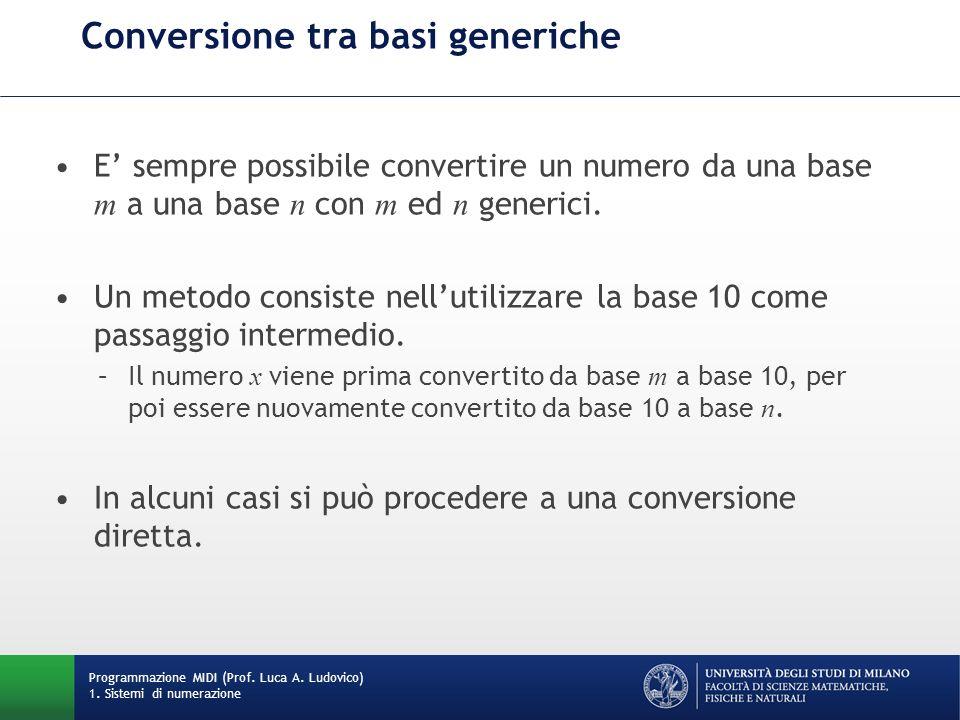 Conversione tra basi generiche