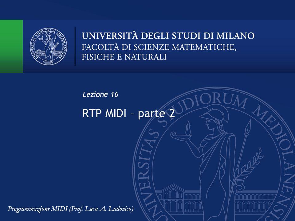 RTP MIDI – parte 2 Lezione 16