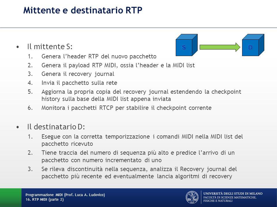 Mittente e destinatario RTP