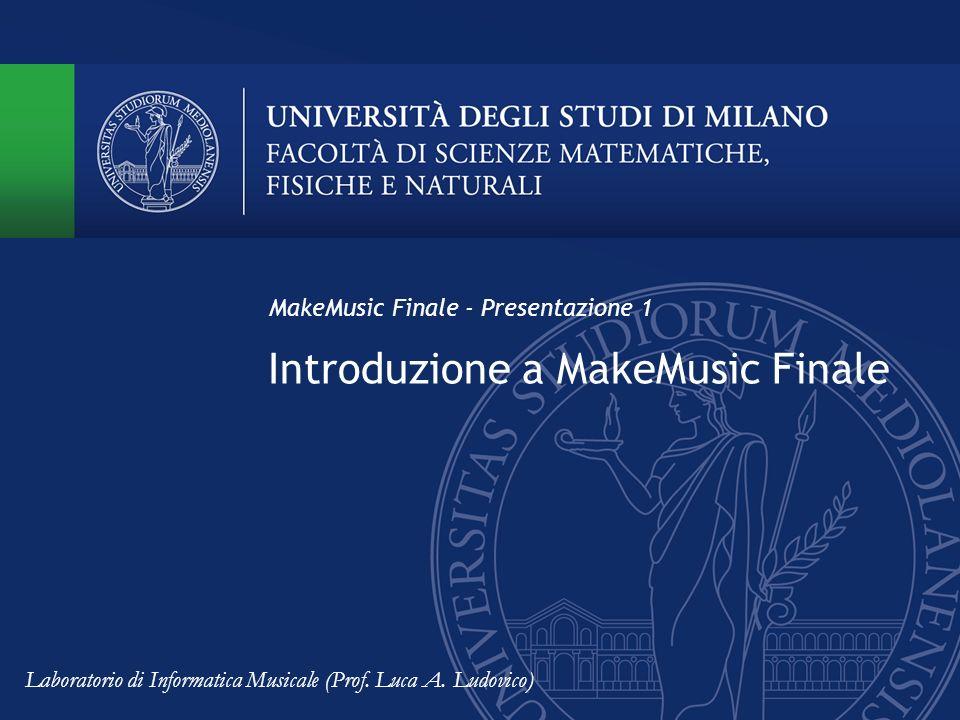 Introduzione a MakeMusic Finale