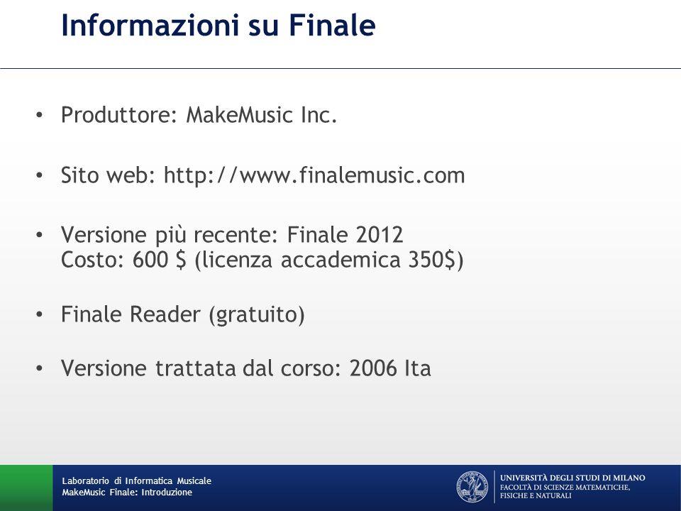 Informazioni su Finale