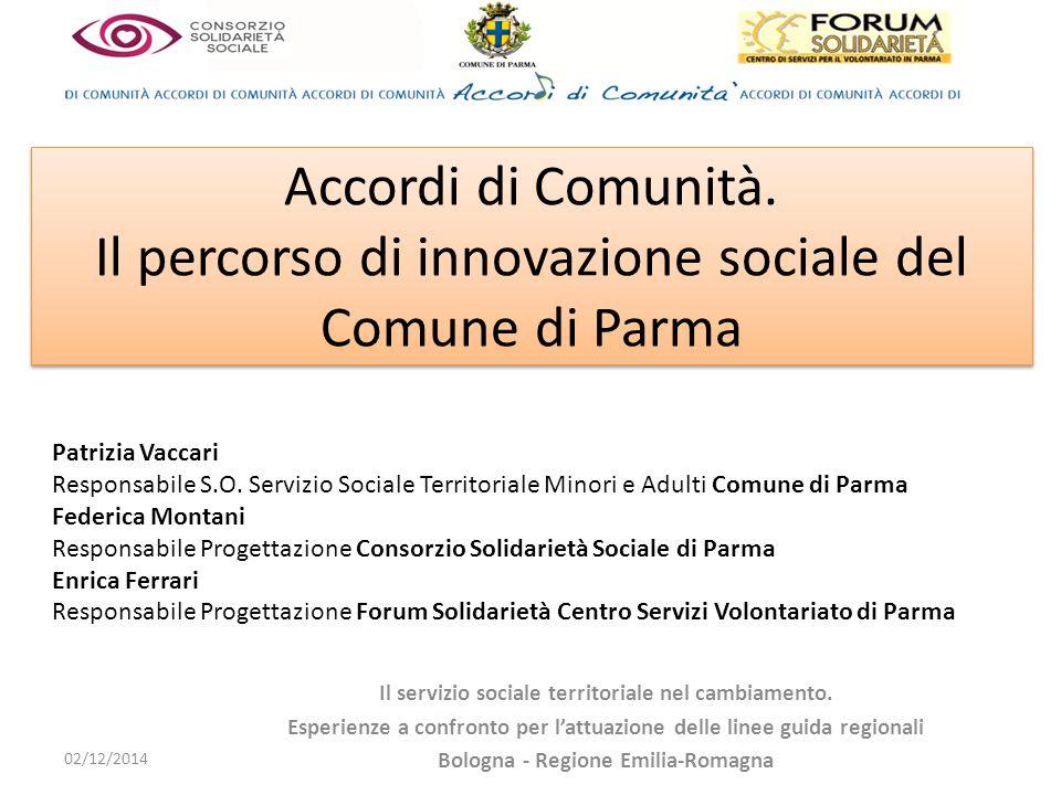 Accordi di Comunità. Il percorso di innovazione sociale del Comune di Parma