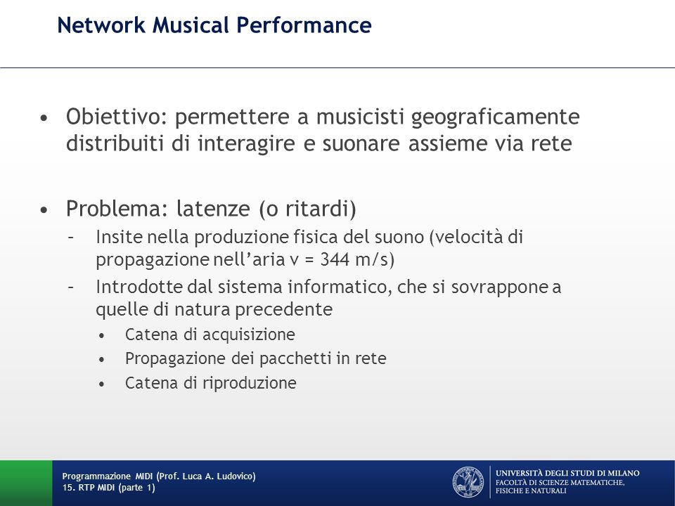 Network Musical Performance