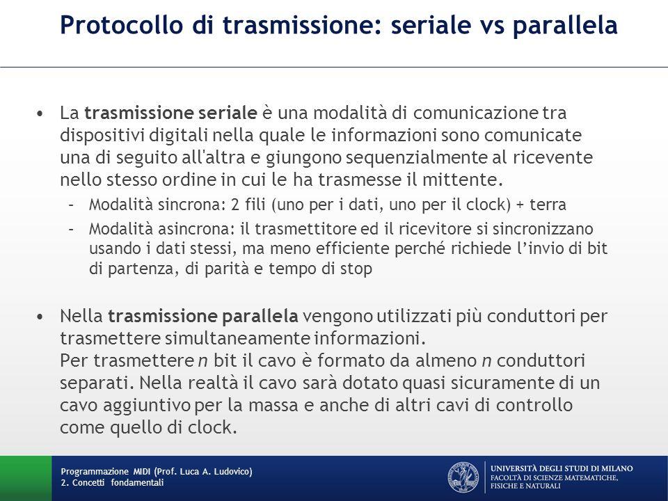 Protocollo di trasmissione: seriale vs parallela