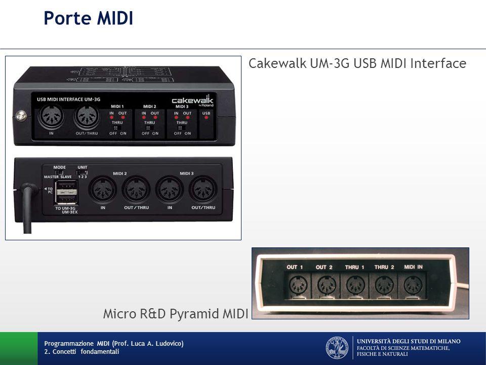 Porte MIDI Cakewalk UM-3G USB MIDI Interface Micro R&D Pyramid MIDI