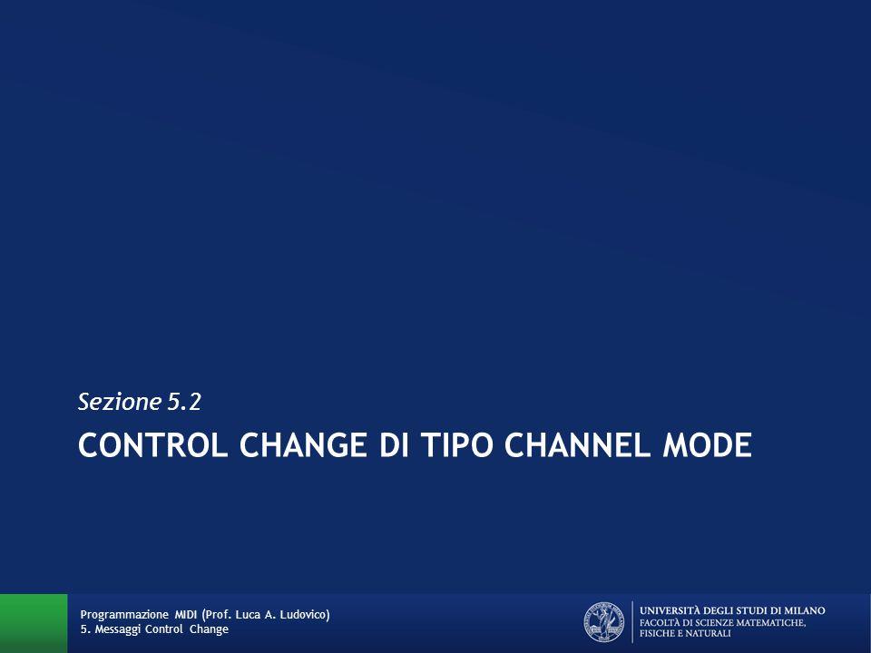 Control Change di tipo channel MODE