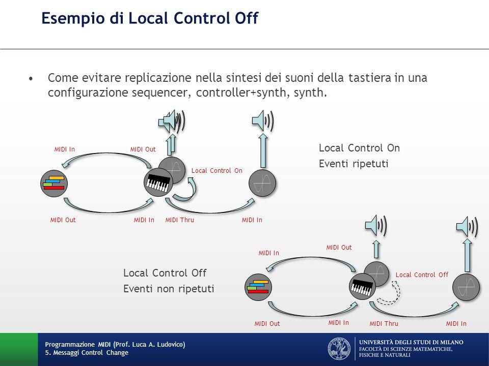 Esempio di Local Control Off