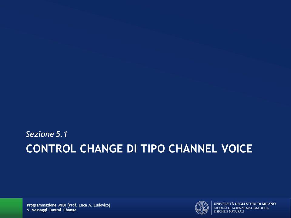 Control Change di tipo channel voice