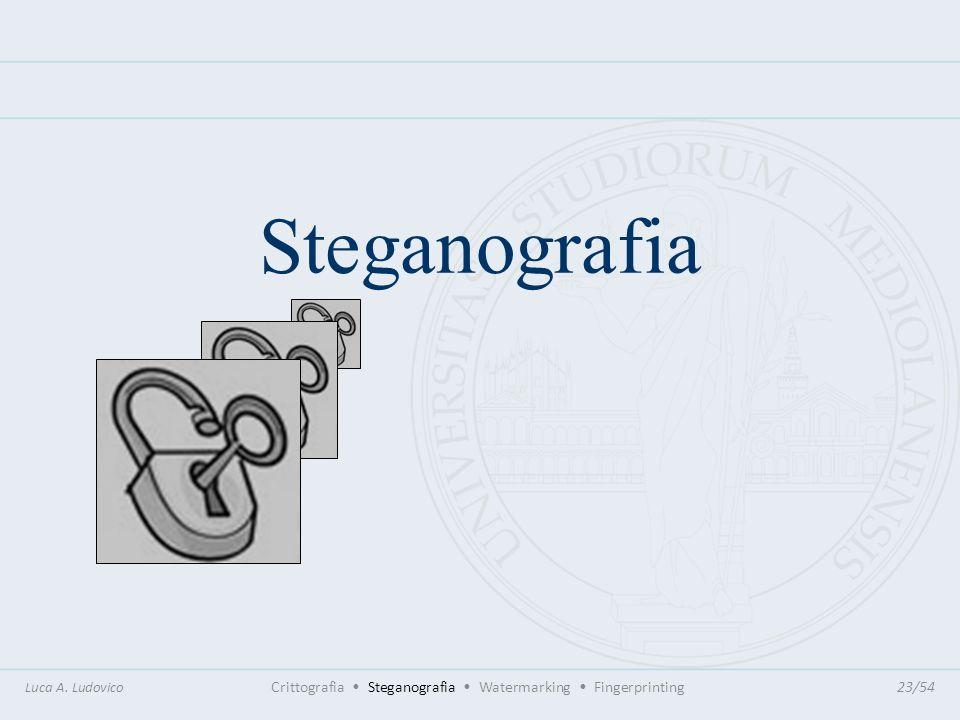 SteganografiaLuca A. Ludovico Crittografia • Steganografia • Watermarking • Fingerprinting 23/54.