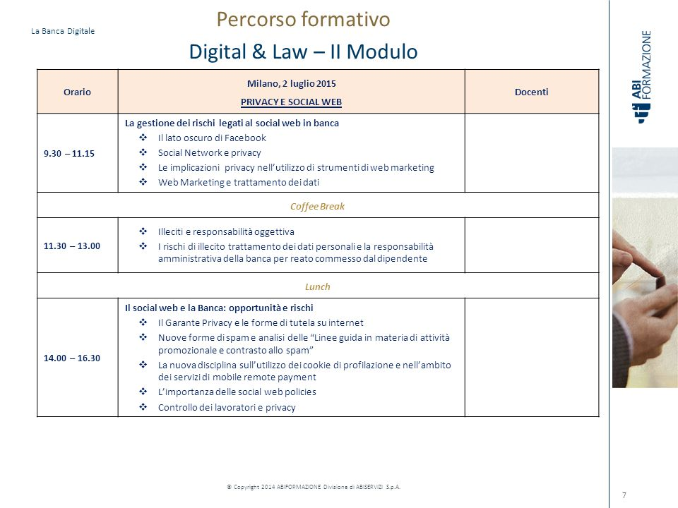 Percorso formativo Digital & Law – II Modulo