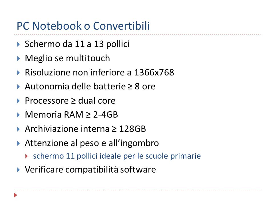 PC Notebook o Convertibili