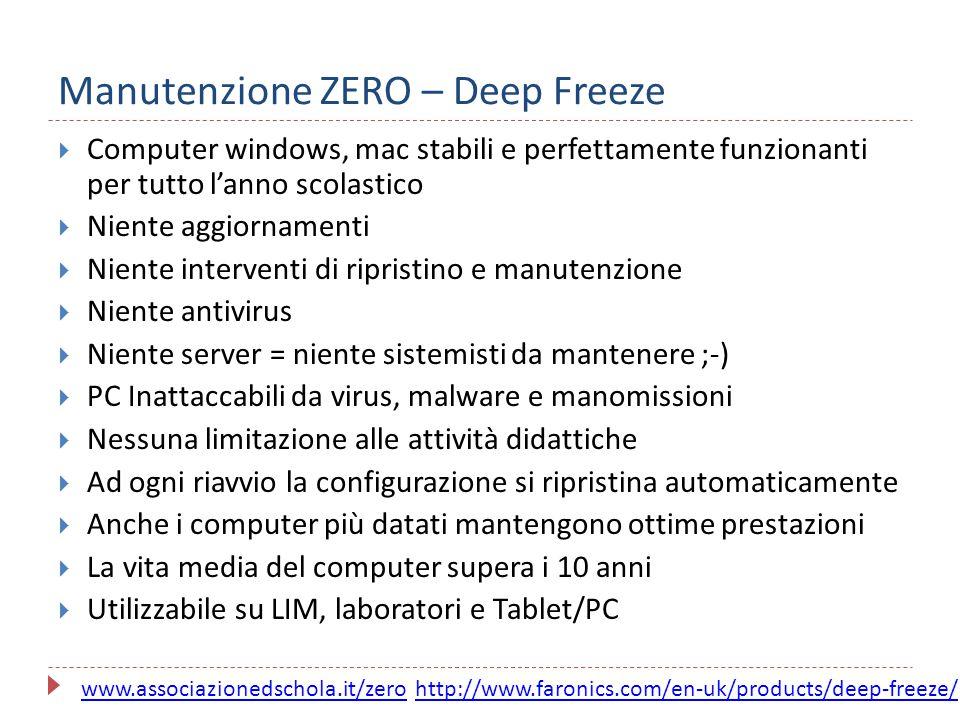 Manutenzione ZERO – Deep Freeze