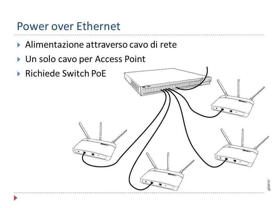 Power over Ethernet Alimentazione attraverso cavo di rete