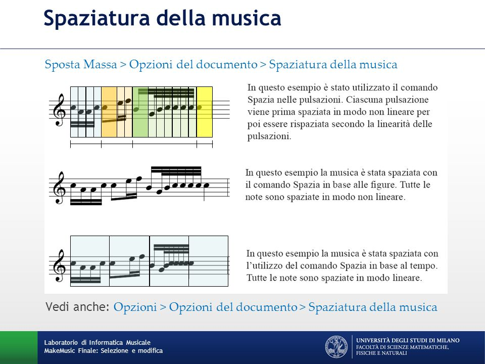 Spaziatura della musica