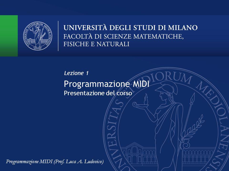 Programmazione MIDI Presentazione del corso