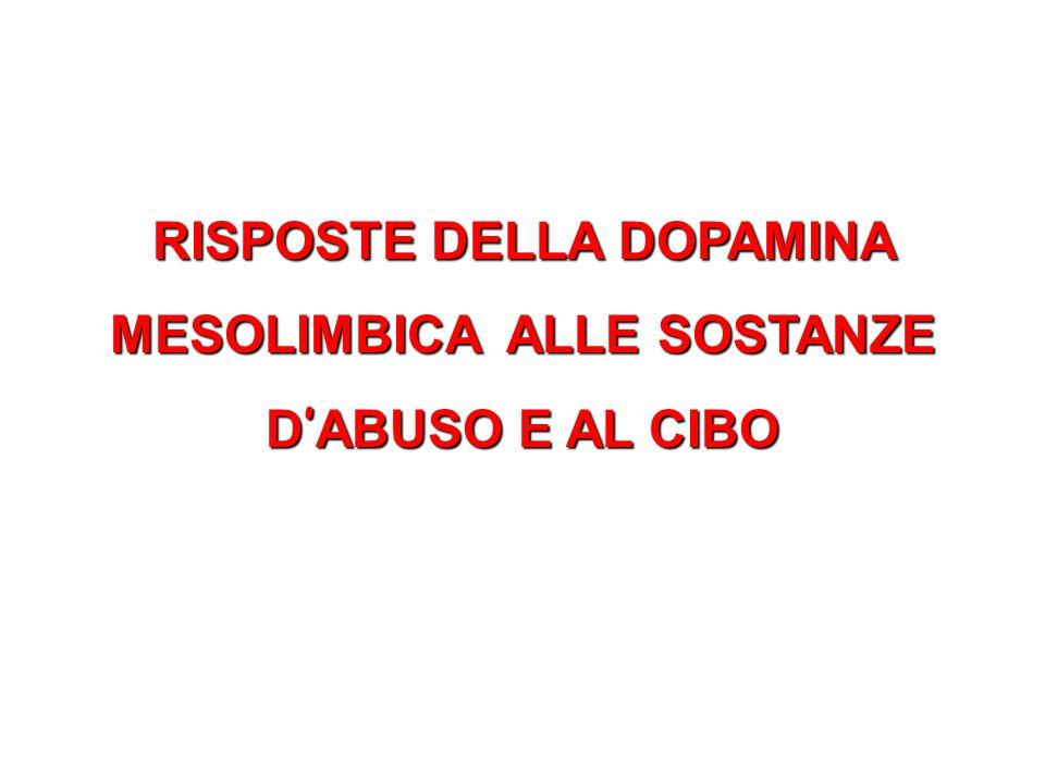 RISPOSTE DELLA DOPAMINA MESOLIMBICA ALLE SOSTANZE D'ABUSO E AL CIBO