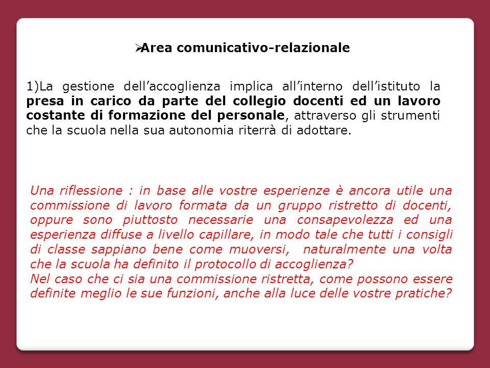 Area comunicativo-relazionale
