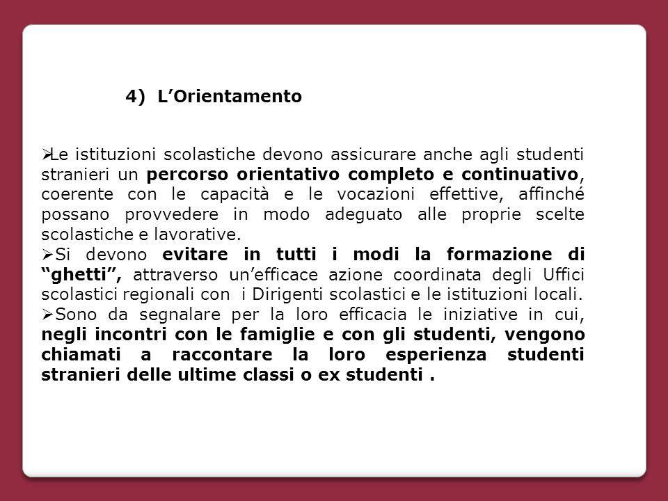 4) L'Orientamento