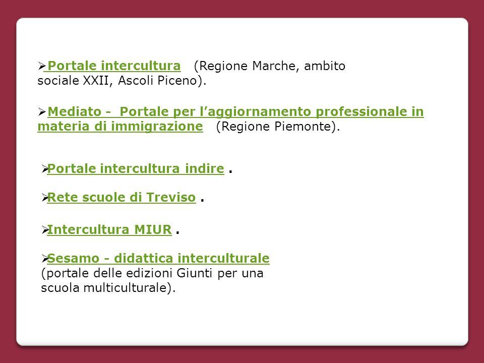 Portale intercultura (Regione Marche, ambito sociale XXII, Ascoli Piceno).