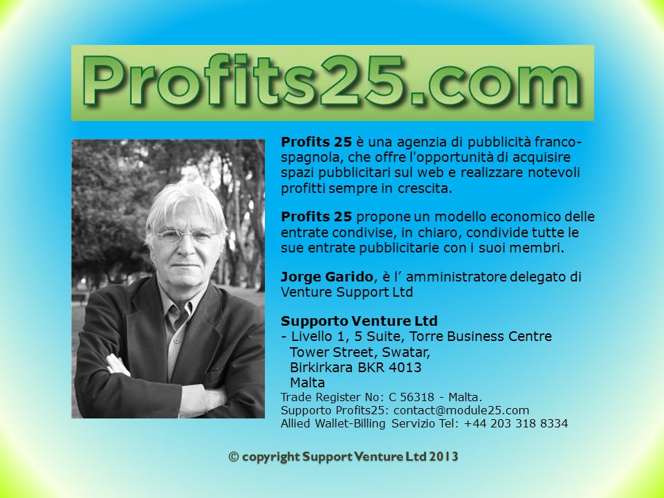 © copyright Support Venture Ltd 2013