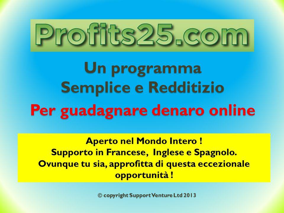 Un programma Semplice e Redditizio Per guadagnare denaro online