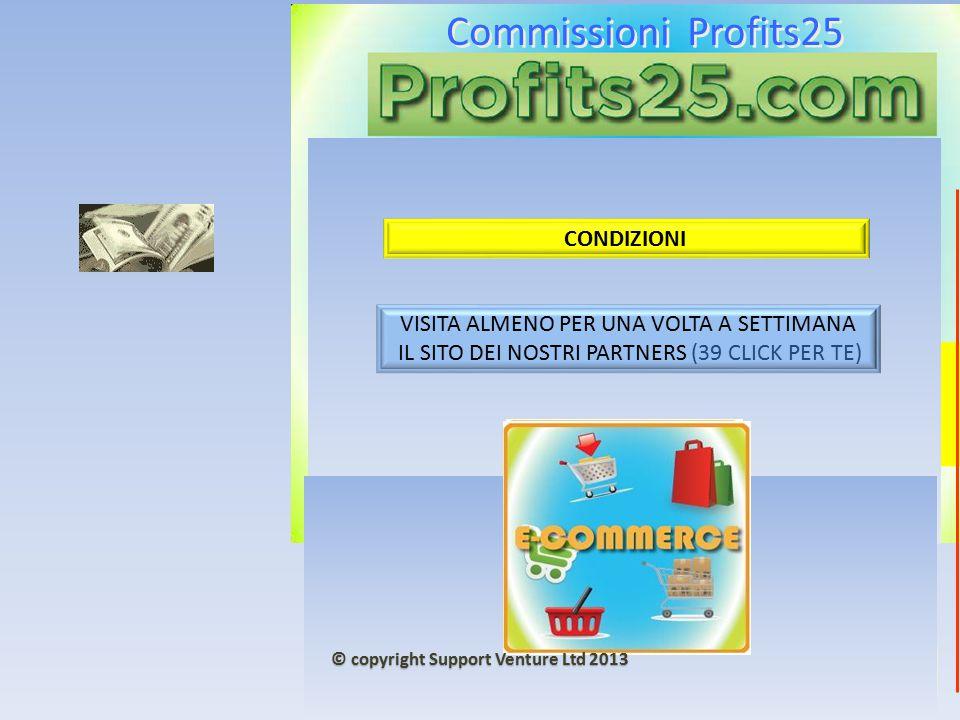 Commissioni Profits25 5000 + 5000 € CONDIZIONI