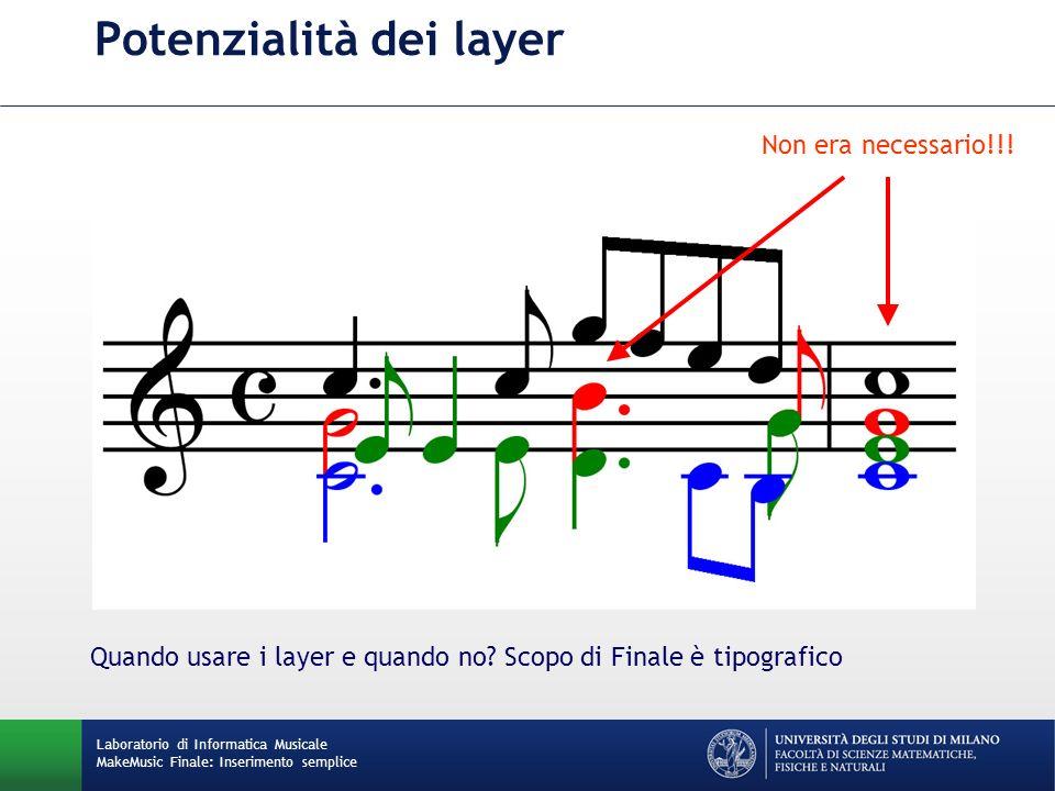 Potenzialità dei layer