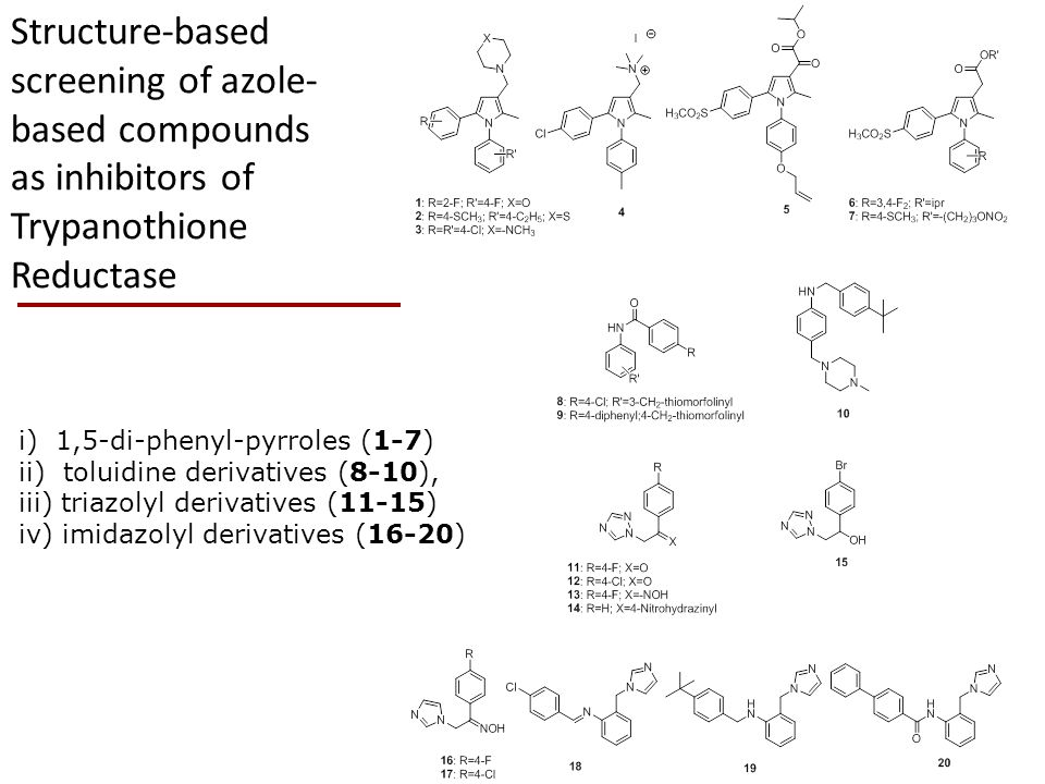 Structure-based screening of azole-based compounds