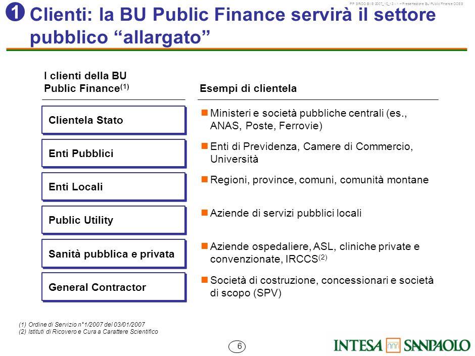 Clienti: la BU Public Finance servirà il settore pubblico allargato