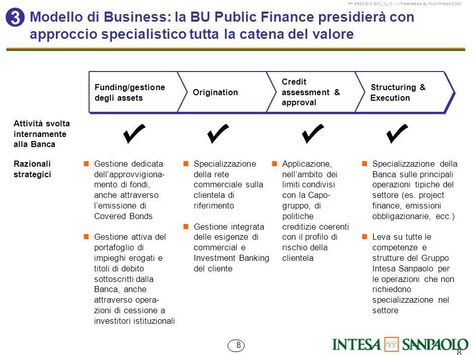 MIL-BVA148-01032007Z-35596/FRModello di Business: la BU Public Finance presidierà con approccio specialistico tutta la catena del valore.