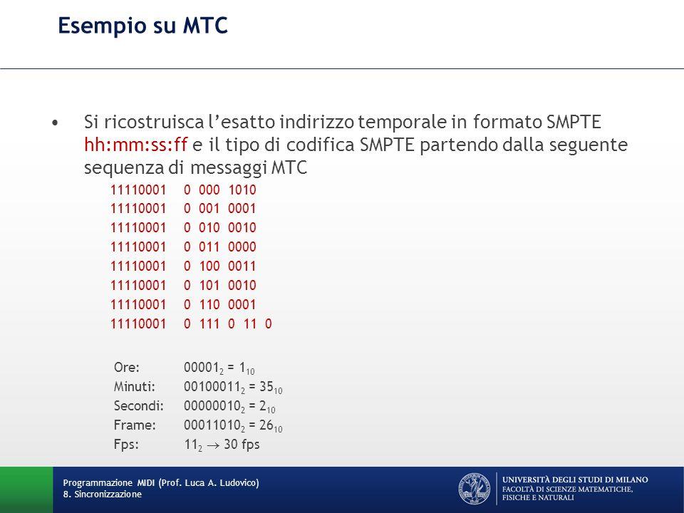 Esempio su MTC