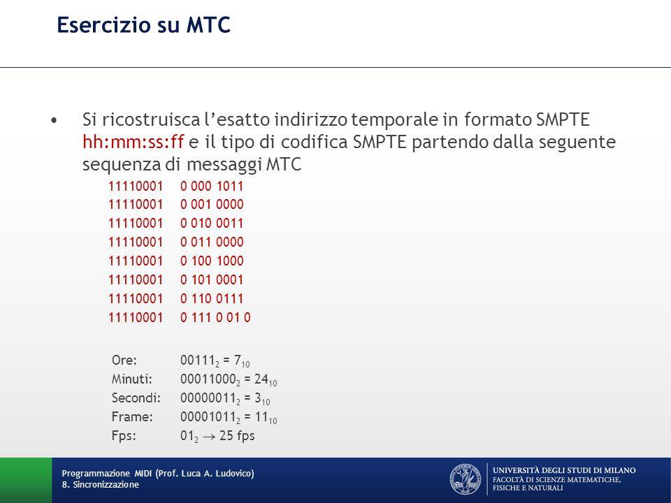 Esercizio su MTC