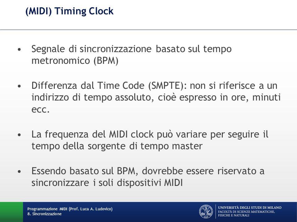 Segnale di sincronizzazione basato sul tempo metronomico (BPM)