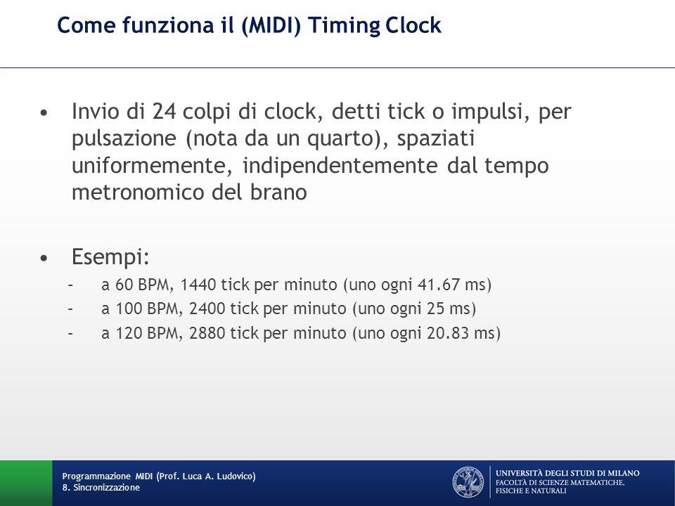 Come funziona il (MIDI) Timing Clock