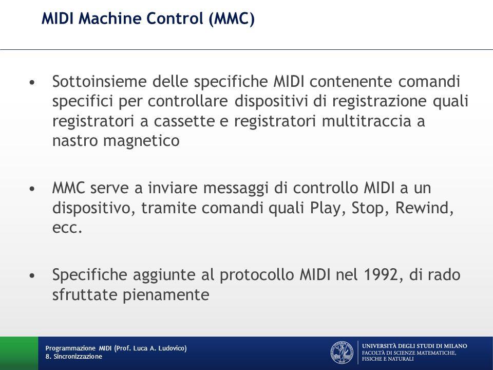 MIDI Machine Control (MMC)