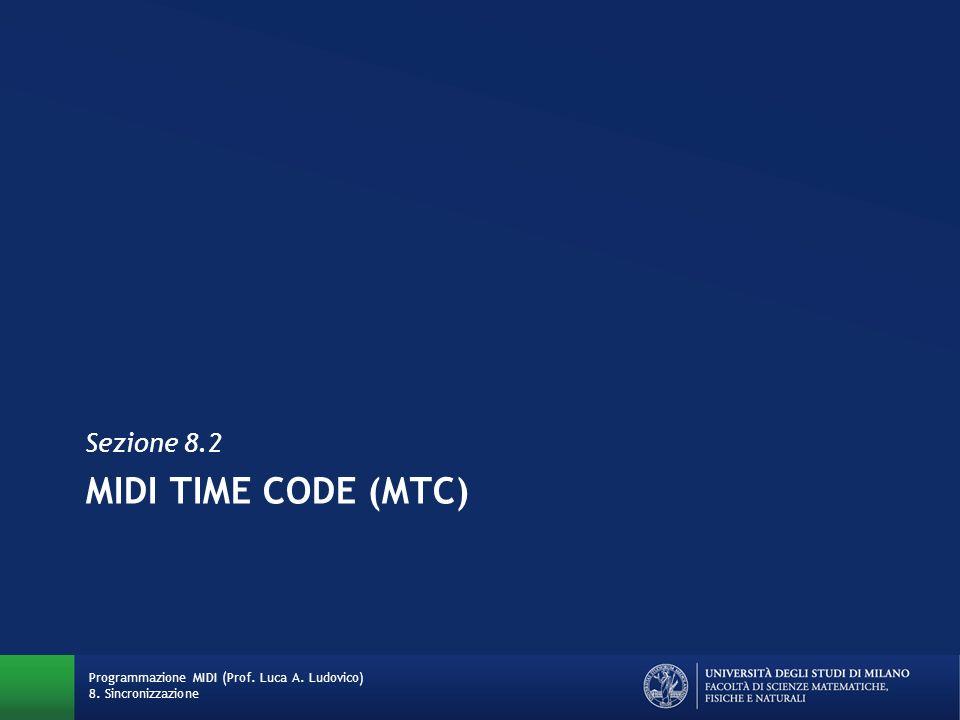 MIDI TIME CODE (MTC) Sezione 8.2