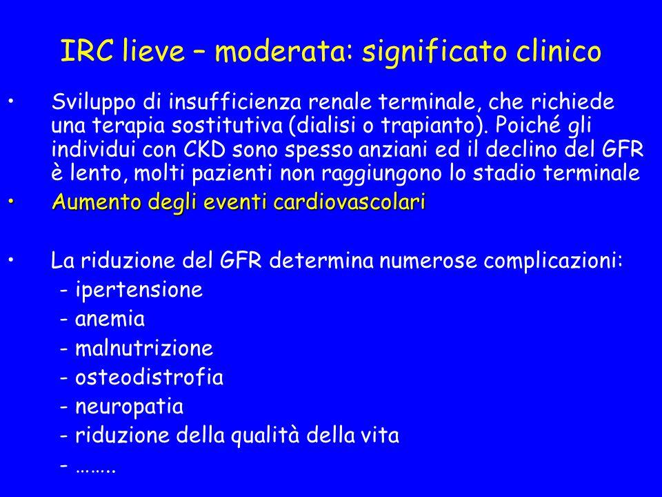 IRC lieve – moderata: significato clinico
