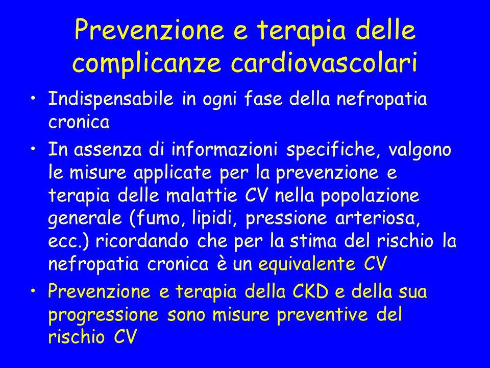 Prevenzione e terapia delle complicanze cardiovascolari