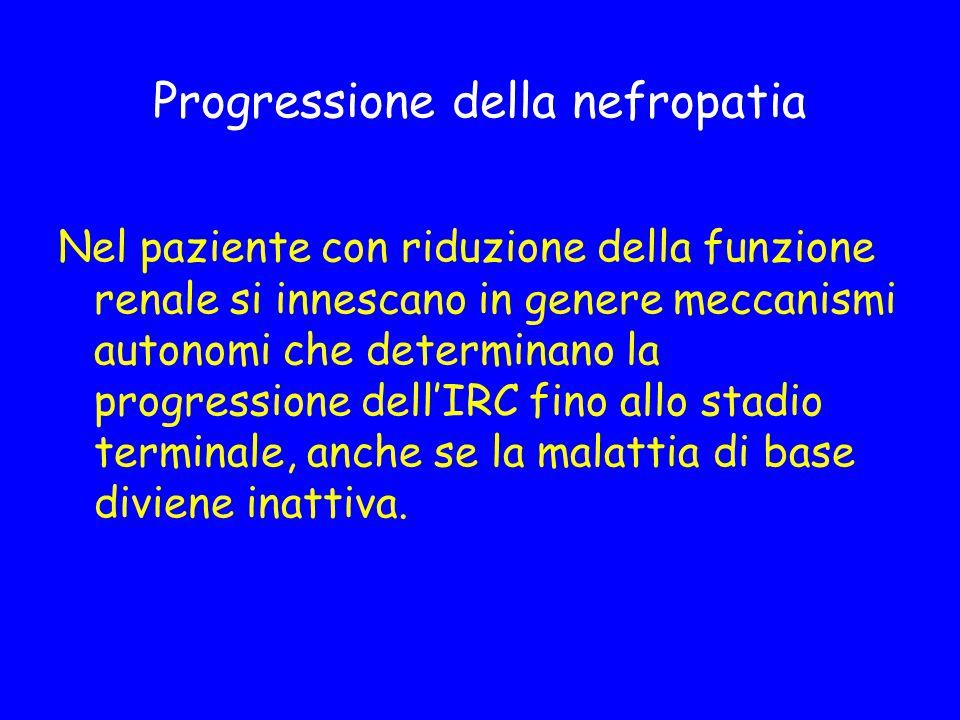 Progressione della nefropatia
