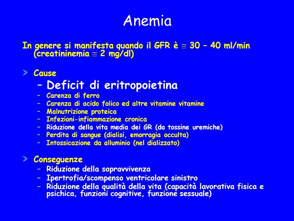 Anemia Deficit di eritropoietina