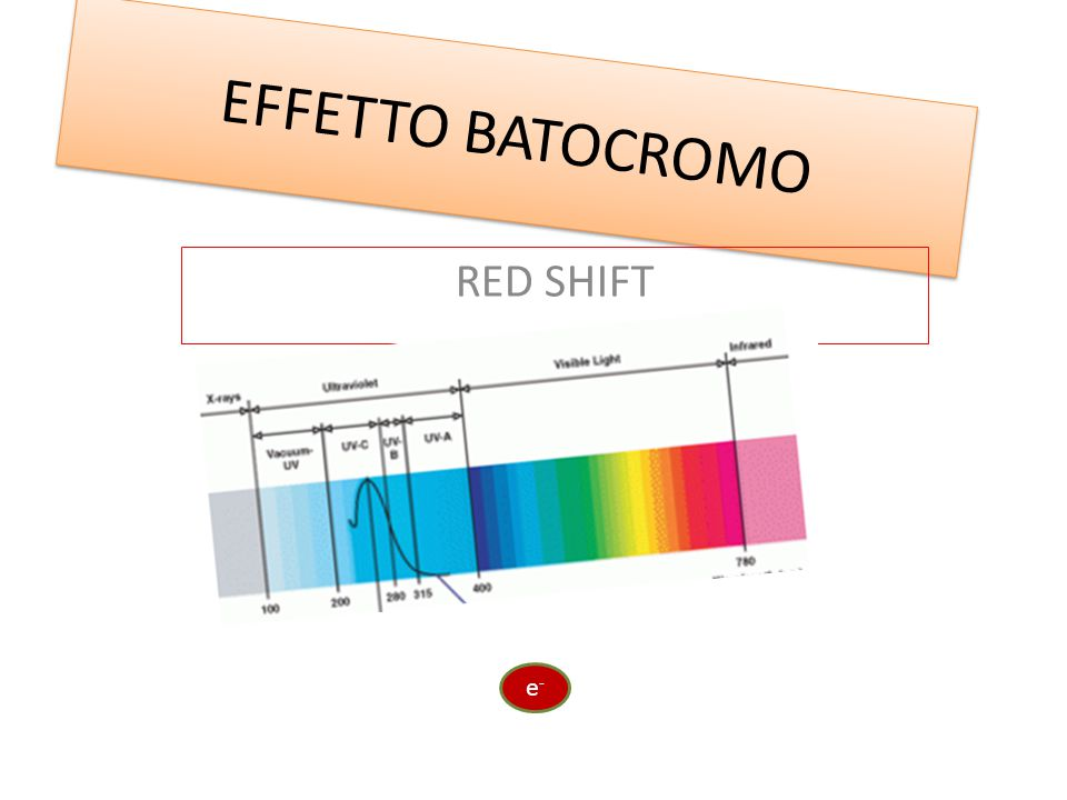 EFFETTO BATOCROMO RED SHIFT e-