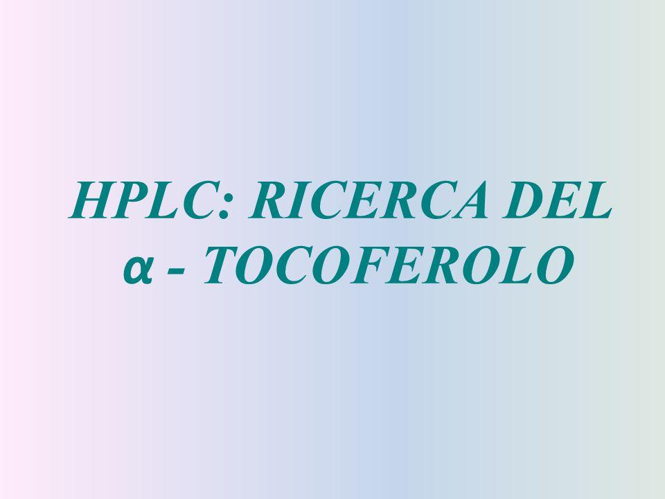 HPLC: RICERCA DEL α - TOCOFEROLO