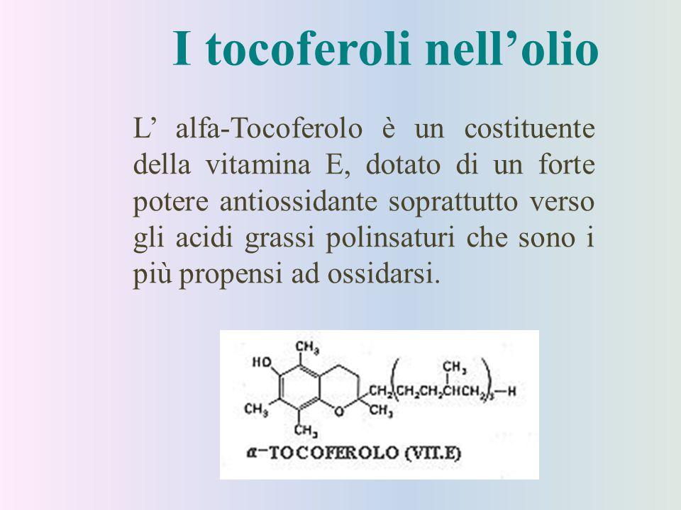 I tocoferoli nell'olio