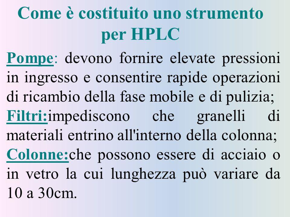 Come è costituito uno strumento per HPLC