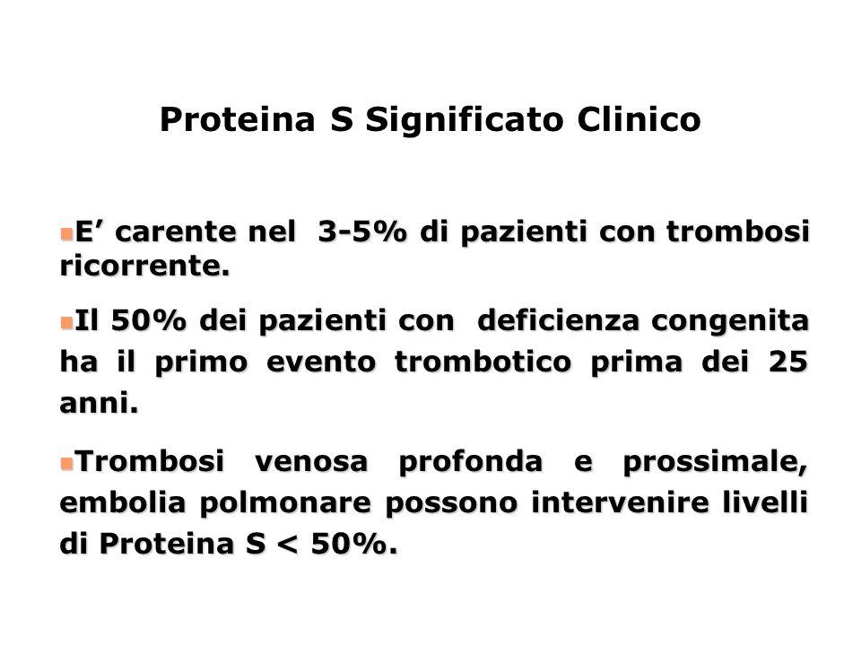 Proteina S Significato Clinico
