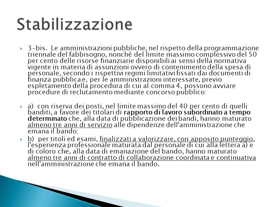 Stabilizzazione
