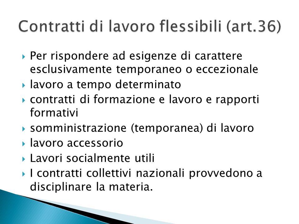 Contratti di lavoro flessibili (art.36)