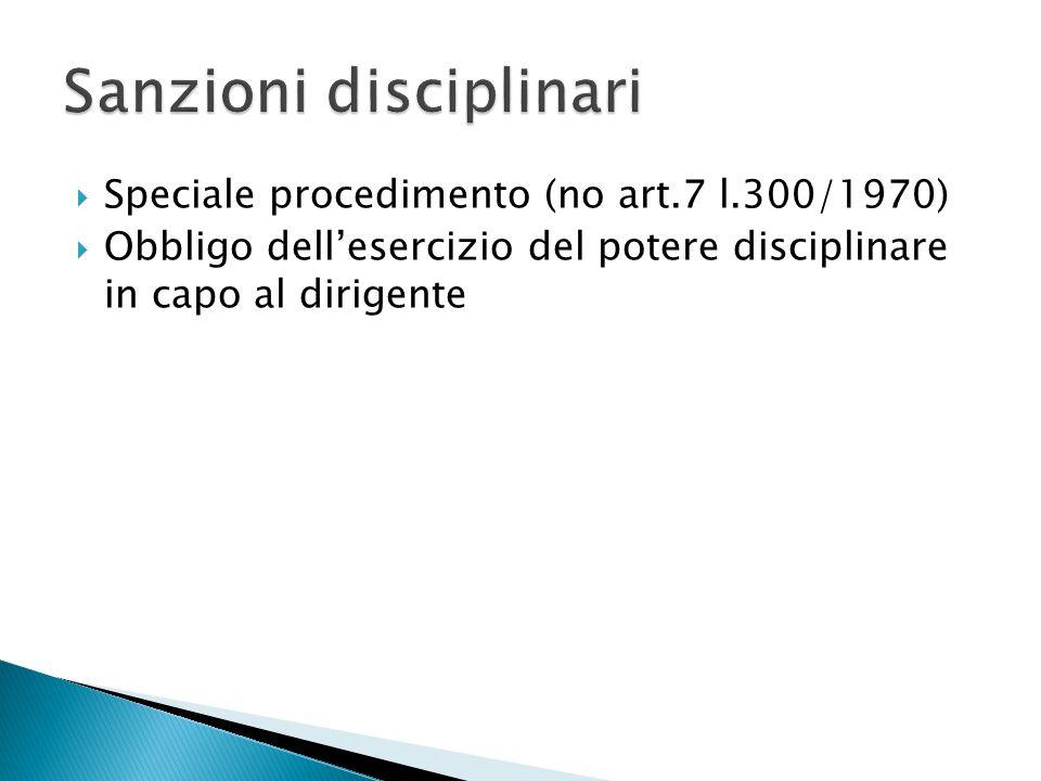 Sanzioni disciplinari