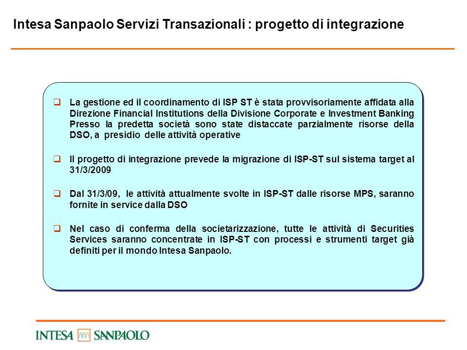 Intesa Sanpaolo Servizi Transazionali : progetto di integrazione